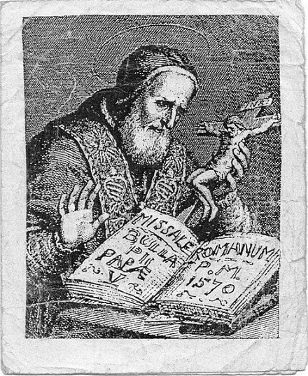 St Pope Pius V.. From the earlist Missal, volné dílo