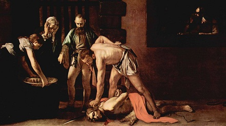 Michelangelo Caravaggio, Beheading of St John the Baptist, Public Domain, commons.wikimedia.org