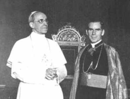 Pio XII e Fulton J. Sheen, pubblico dominio,  it.wikipedia