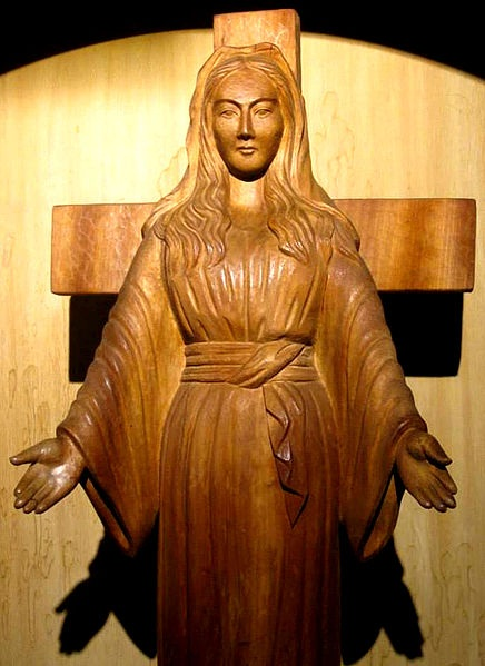 Virgin Mary of Akita Japan, SICDAMNOME, CC BY-SA 4.0, commons...