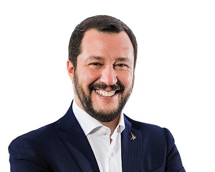 Matteo Salvini, minister of the Interior, CC BY 3.0 it, cs.wikipedia.org