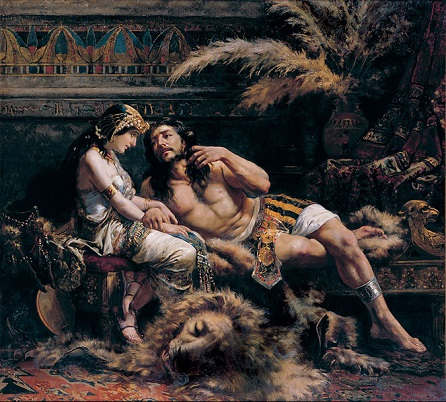 Samson and Delilah, public domain, commons...